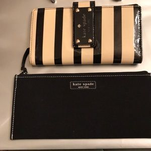 Kate Spade wallet and plain black clutch